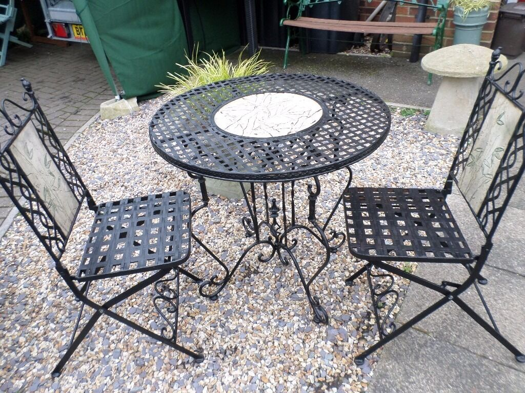 cast iron table and chairs gumtree swivel for sale lovely wrought garden two in