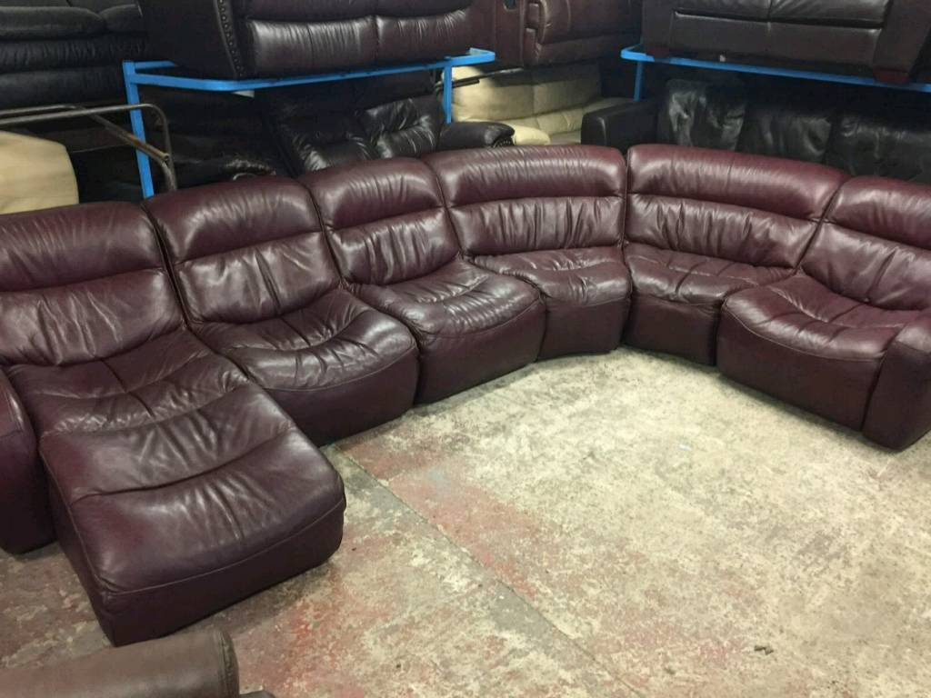red leather sofas gumtree manchester lc2 sofa bed dfs 6 seater brown modular in rochdale