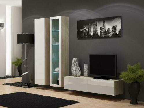 meuble tv flottant avec meuble colonne livraison possible
