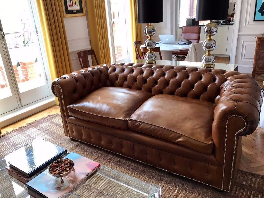 leather chairs of bath london gioteck rc5 gaming chair review chesterfield sofa 2 5 tan in chelsea gumtree