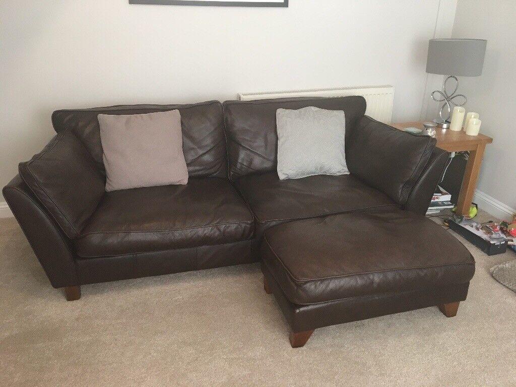 barletta sofa hotel istanbul spa 2 m s 1 brown leather footstool grey fabric in