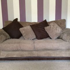 Leather Sofa Covers Ready Made Uk Chair Legs 2 X Ex Dfs Brown Material Sofas And Storage Footstool In