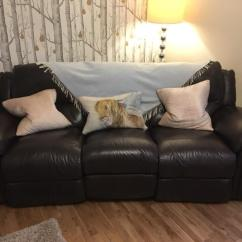 2 Piece Brown Leather Sofa Flexsteel Winston 3 And Suite In Newton