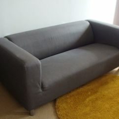 Klippan Sofa Ikea Uk Navy Blue Velvet Sectional Grey Very Good Condtion 12 Months Old