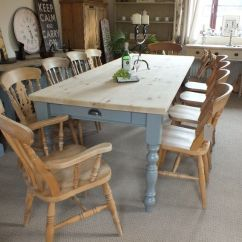 French Country Farm Table And Chairs Plastic Chair Covers For Recliners Large 8ft Rustic Style Shabby Chic Pine