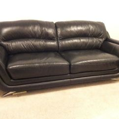 Black Leather Sofas On Gumtree Chaise Sofa 3 43 2 Seater In Lenzie Glasgow
