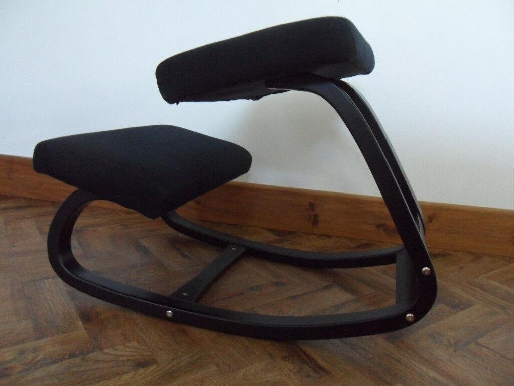 posture promoting chair helinox one camp ergonomic orthopaedic kneeling rocking variable balance stool