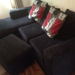 Dfs Sofas That Come Apart Sofa Bed Plans Black Rapide Corner And Storage Footstool In