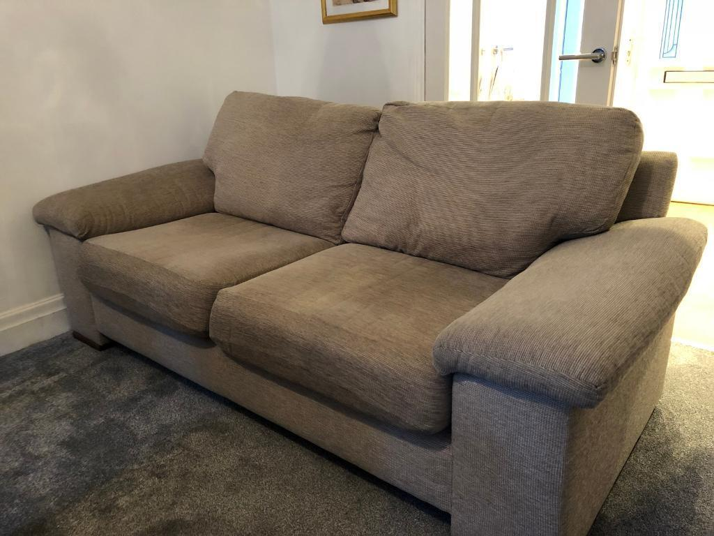 oatmeal sofa austin leather pottery barn next three seater in stockport manchester gumtree