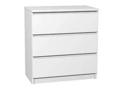 Kommode mit 3 Schubladen Sideboard weiß Anrichte holz modern