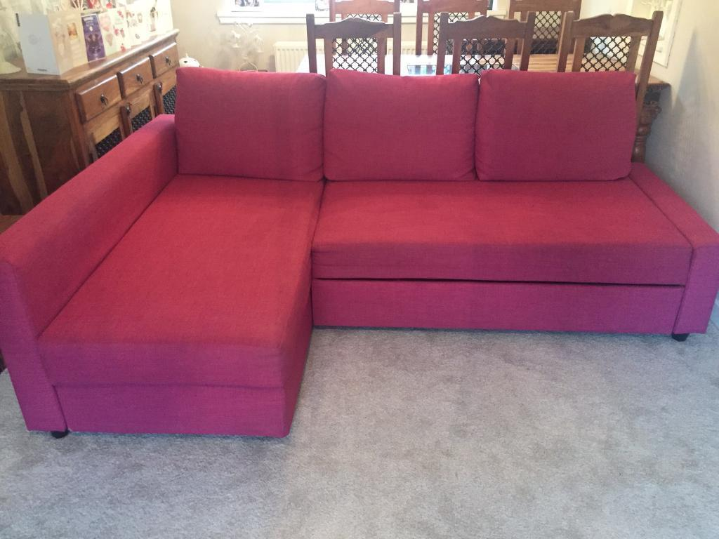 pink sofa bed for sale how to deep clean microfiber ikea friheten limited edition corner in
