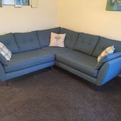 Free Sofa Uplift Glasgow Fabric Corner Dfs As New French Connection Zinc And Chair In