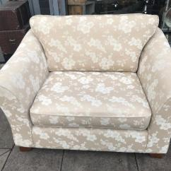 Sofa Collection Charity Leicester Love Seat And M Ands Cream Fabric Cuddle Chair Small In