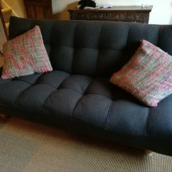 Loft Charcoal Sofa Bed Decorative Throws For Sofas Habitat Kota 3 Seater In Canterbury
