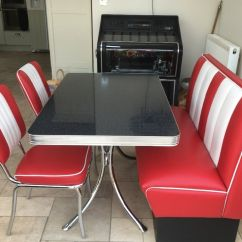 Flex One Folding Chair Dining Room Vinyl Covers Retro 1950's Diner Booth For Sale. Originally Paid £1500,amazing Condition!!   In Epsom, Surrey ...