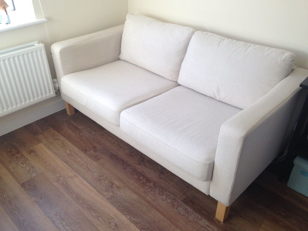 ikea karlstad chair office mat reduced excellent 2 seater sofa in bidford
