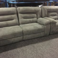 Electric Recliner Sofa Not Working Crochet Arm Covers New Ex Display Lazyboy Kinman Grey 3 1 Seater 75 Off Rrp