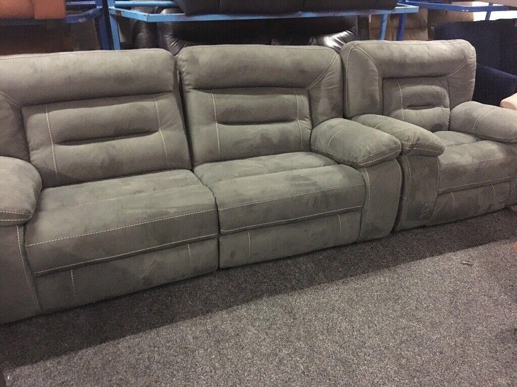 electric recliner sofa not working como decir cama en ingles new ex display lazyboy kinman grey 3 1 seater 75 off rrp