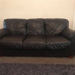 Leather Sofa Cleaner Blackpool Living Matratze Two Brown Sofas 175 Good Condition In