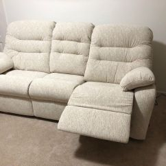 Reclining Sofa Brands Chenille Fabric Durability Brand New Cream G Plan And Armchair In