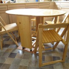 Rubberwood Butterfly Table With 4 Chairs Vintage Rattan John Lewis Drop Leaf Folding Dining And