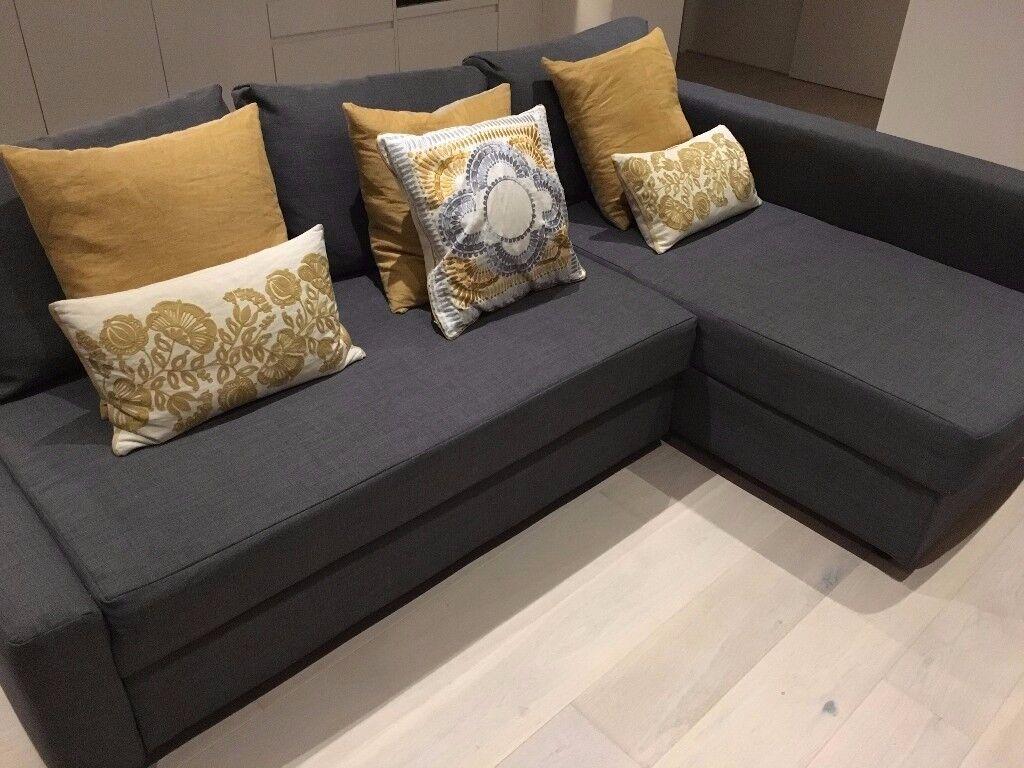 corner sofa bed london gumtree mah jong for sale grey ikea friheten 43 storage in
