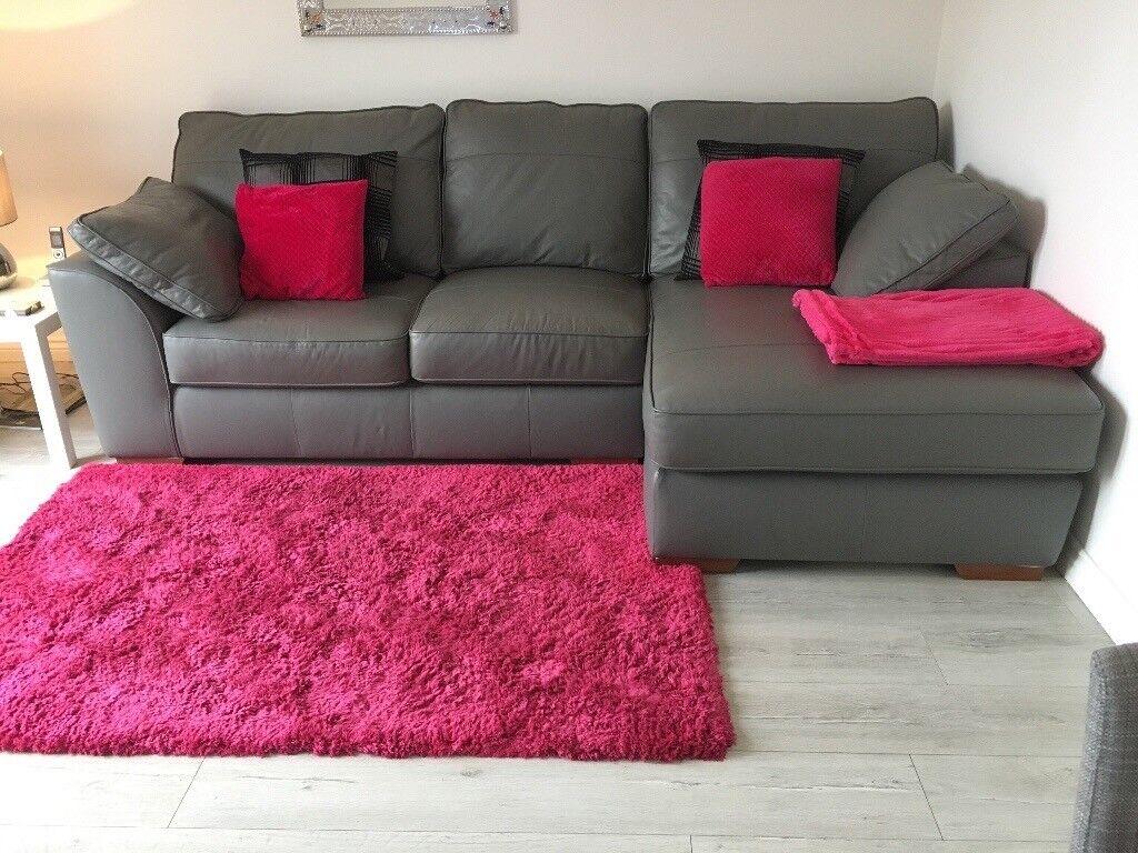grey leather corner sofa uk modern living room design next french in dunfermline