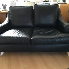 Leather Sofa Cleaner Blackpool Red Sectional Sleeper Multiyork Long Island Small And Chair In Black