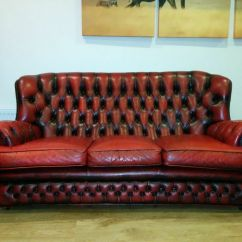Oxblood Red Chesterfield Sofa Cheap Furniture Melbourne 3 Seater Vintage Button
