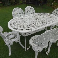 Cast Iron Table And Chairs Gumtree Lifetime Chair Covers Ivory Victorian Outdoor Furniture Goods