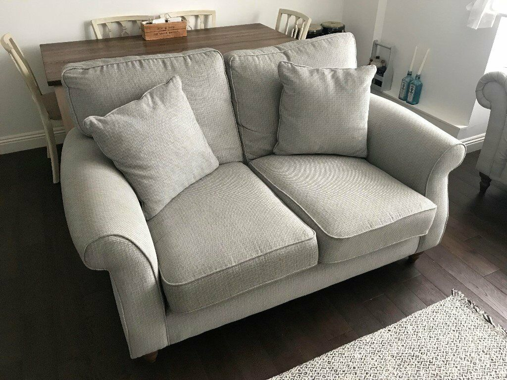 grey fabric sofa next memory foam mattress topper for bed ashford 2 seats light belgian soft twill in