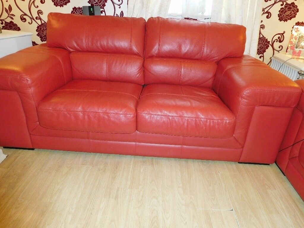 red leather two seater sofa special design beautiful for sale in