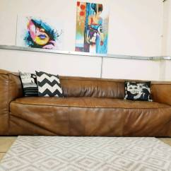 Sofa Bed Second Hand Bristol Fabric Modular Nz Timothy Oulton Scruffy 3 Seater Leather Rrp Sale Price 3600 In