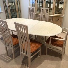 Oak Kitchen Table Commercial Door G Plan Trade Winds Limed Dining 6 Chairs In Lincoln Lincolnshire Gumtree