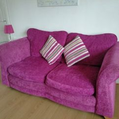 Pink Sofas Sofa Bed With Chaise Costco Dfs Bright 1 And Footstool In Newquay