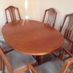 Parker Knoll Dining Chairs Second Hand Swivel Chair Footstool Teak Table And 6 In Stoke