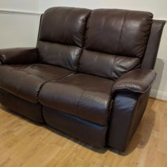 Modena 2 Seater Reclining Leather Sofa Green Microfiber Recliner In Pinner London Gumtree