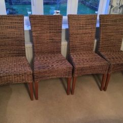 Basket Weave Dining Chairs Wooden Swivel Chair Uk In Budleigh Salterton Devon Gumtree