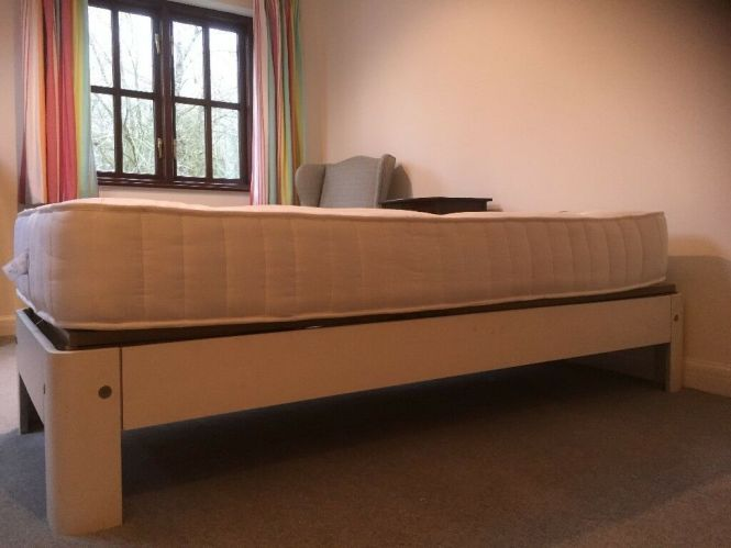 Single Mattress Almost New With Bed Frame Low Price For Quick