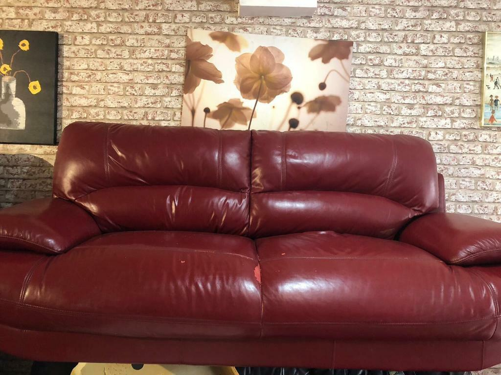 red leather sofas gumtree manchester karlstad sofa used minimalist all about home