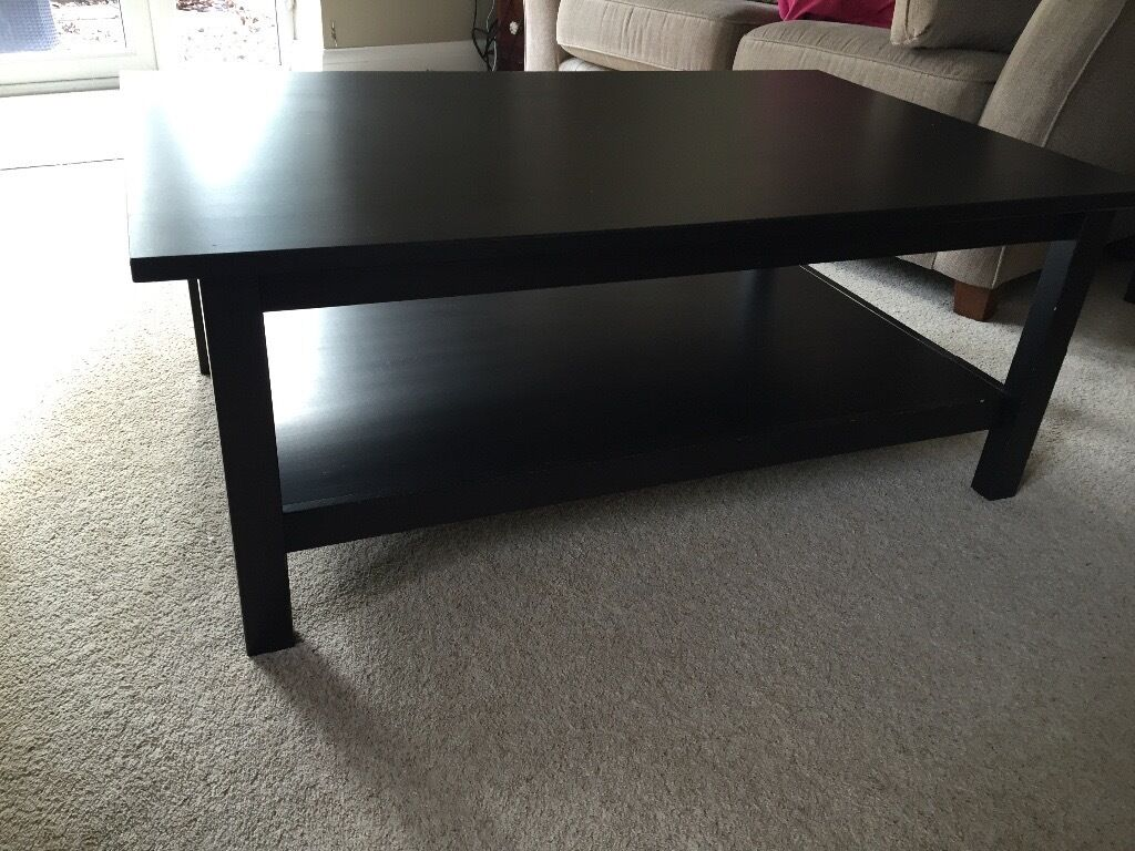 IKEA BLACK COFFEE AND SIDE TABLE
