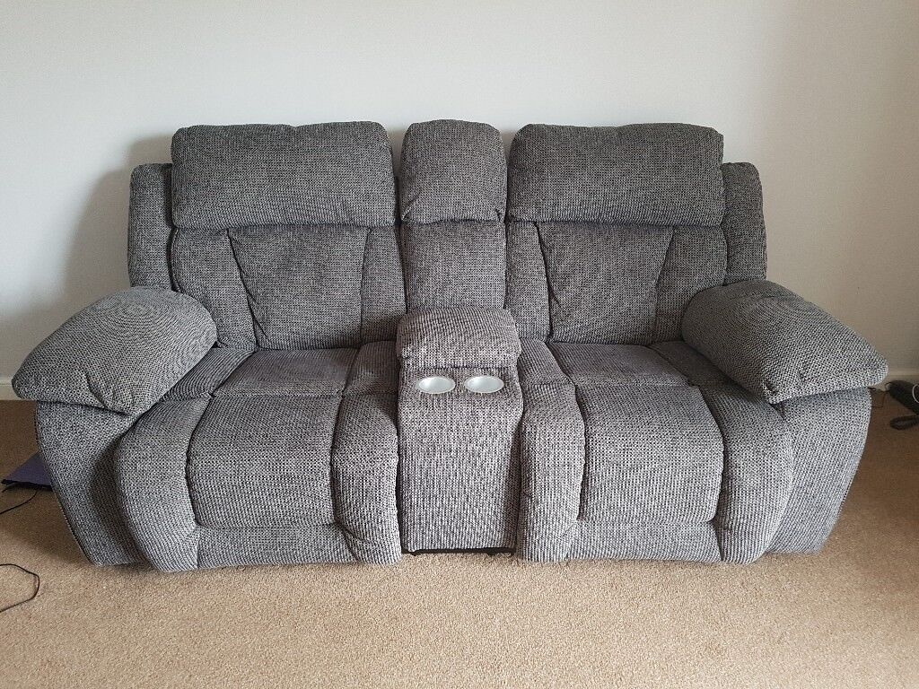 two seater recliner sofa gumtree mickey scs long beach manual 2 with console