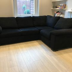 Black Sofa Beds For Sale Ikea Rp Covers Canada Dfs L Shaped Corner Bed In