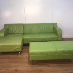 Green Leather Corner Sofa Bed Pull Out Toronto Brokeasshome