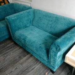 Teal Sofas Dining Table Behind Sofa Brand New X2 Very Comfortable In West Hampstead
