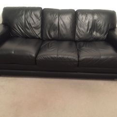 3 Seater Leather Sofa Dfs Rph Black Glow In Stockport