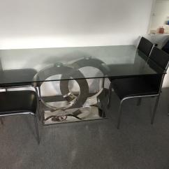 High Back Easy Chair Bedroom On Wheels Coco Chanel Modern Glass Top Dining Table | In Rochester, Kent Gumtree