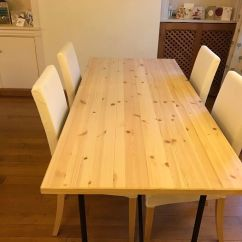 Dining Room Table And Chairs Gumtree Chair Covers Wedding Surrey Ikea Ryggestad With 4 In Sevenoaks