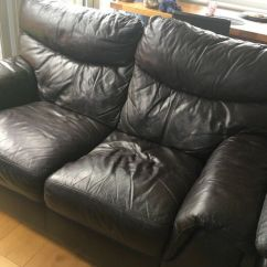 Secondhand Leather Sofas Large Sofa Pillows Back Cushions 2nd Hand For And Couches In Dublin
