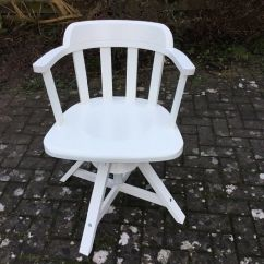 Swivel Chair Uk Gumtree Karlstad Armchair Cover Ikea Feodor White Wood In Stoke Bishop